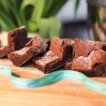Award winning chocolate brownies, with premium Belgian chocolate